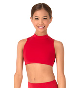 Girls Mila Triangle Back Dance Crop Top