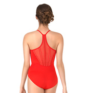 Adult Pleated Panel Racerback Camisole Leotard