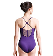 Womens Rouleaux Braid Detail X-Back Camisole Leotard