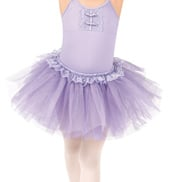 Girls Scalloped Lace Tutu Skirt