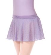 Girls Bow Flock Mesh Pull-On Skirt