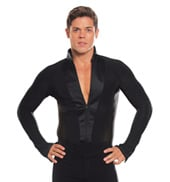 Mens Striped Long Sleeve Ballroom Leotard
