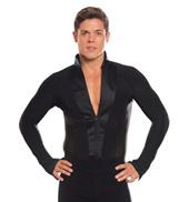 Mens Striped Long Sleeve Ballroom Leotard