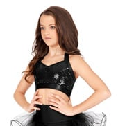 Child Sequin Halter Bra Top