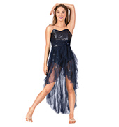 Adult High-Low Glitter Mesh Camisole Lyrical Dress