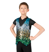 Boys Sequin Vest