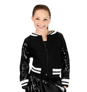 Girls Sequin Varsity Jacket