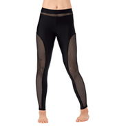 Womens Mesh Inset Dance Leggings