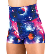 Girls Galaxy High Waist Dance Shorts