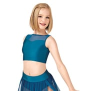 Child Emballe Mesh Bodice Tank Crop Top