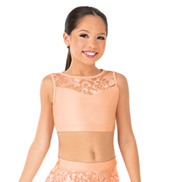 Child Emballe Lace Sweetheart Tank Crop Top
