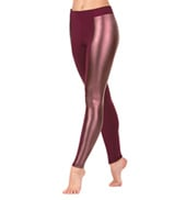 Adult Matte Metallic Insert Ankle Leggings