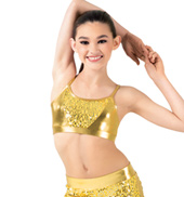 Girls Sequin Camisole Bra Top