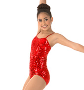 Girls Sequin Camisole Leotard