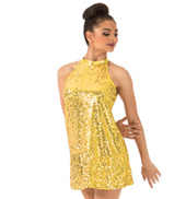 Adult Sequin Mock Neck Dress