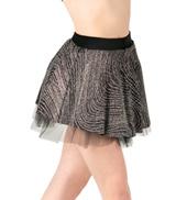 Adult Silver Swirl Skater Skirt