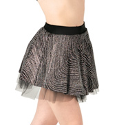 Child Silver Swirl Skater Skirt