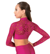 Child Emballe Lace Long Sleeve Crop Top