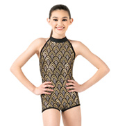 Child Sequin High Neck Tank Biketard