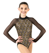 Child Long Sleeve Sequin Leotard