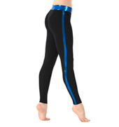 Adult Metallic Side Stripe Leggings