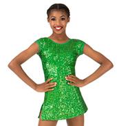 Girls Sequin Cap Sleeve Performance Dress Set