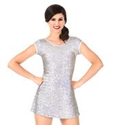 Womens Plus Size Sequin Cap Sleeve Performance Dress Set