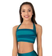 Child Emballe Two-Tone Shirred Mesh Lyrical Halter Bra