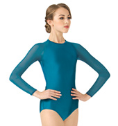 Adult Emballe Mesh Long Sleeve Leotard