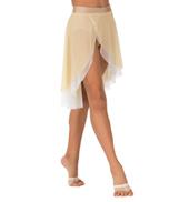 Child Emballe Two-Tone Asymmetrical Mesh Lyrical Skirt