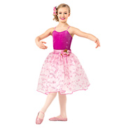 Girls Romantic Floral Tutu Dress Set