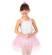 Girls 3-D Floral Tank Performance Tutu Dress