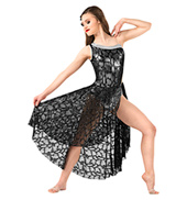 Adult One Shoulder Sequined Lyrical Dress Set