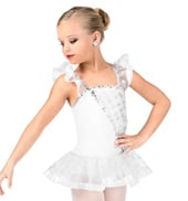 Girls Flutter Sleeve Performance Tutu Dress