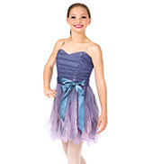 Girls Camisole Spiral Dress Set