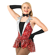 Adult Sequined Peplum Leotard Set