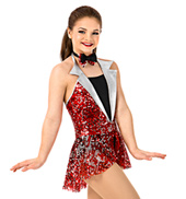 Girls Sequined Peplum Leotard Set