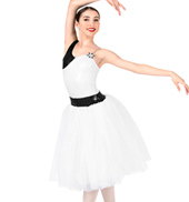 Womens Plus Size One Shoulder Romantic Tutu Costume Dress