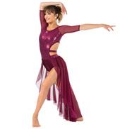 Womens Sequin Bustled Performance Shorty Unitard