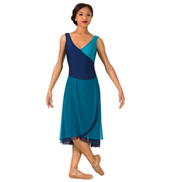 Womens Plus Size Two-Toned Tank Lyrical Dress