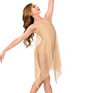 Girls Glitter Mesh Camisole Performance Dress