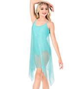 Womens Plus Size Glitter Mesh Camisole Performance Dress