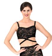 Womens Crisscross Camisole Dance Bra Top