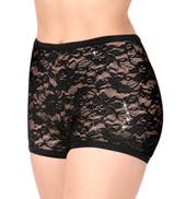 Womens Floral Lace Dance Shorts