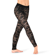 Womens Floral Lace Dance Leggings