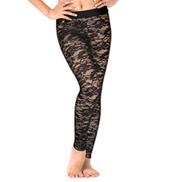 Womens Floral Lace Dance Leggings