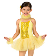 Girls Feathered Camisole Tutu Dress Set