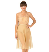 Womens Swirl Mesh Camisole Performance Dress