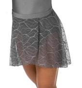 Girls Swirl Mesh Short High-Low Performance Skirt