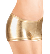 Adult Metallic Dance Shorts